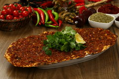 Turkish Pizza - Lahmacun Royalty Free Stock Images