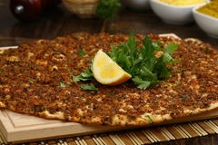 Turkish Pizza - Lahmacun Stock Photography
