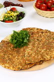 Turkish Pizza - Lahmacun Royalty Free Stock Image