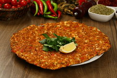 Turkish Pizza - Lahmacun Royalty Free Stock Photography