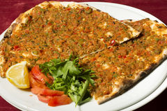 Turkish pizza - Lahmacun Royalty Free Stock Photo