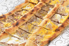 Turkish pizza Royalty Free Stock Image