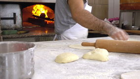 Turkish Pizza Pita named Pide. Video stock video footage