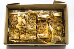 Turkish pizza. Traditional delicious meat minced Turkish pizza. `Pide Royalty Free Stock Photos