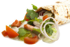 Turkish pizza. With vegetables and garlic sauce Royalty Free Stock Photo