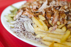 Turkish plate kebab Royalty Free Stock Images
