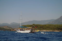 Turkish pleasure yacht Stock Photos