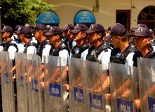 Turkish police. At time of demonstration in Ankara Stock Image