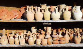 Turkish pottery (Cappadocia) Royalty Free Stock Image