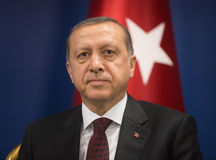 Turkish President Recep Tayyip Erdogan Royalty Free Stock Photography