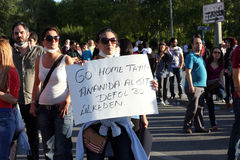 Turkish protest in Ankara Stock Photography