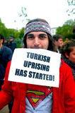 Turkish Protester in Hyde Park Stock Photos