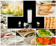 Turkish Raki collage royalty free stock photo