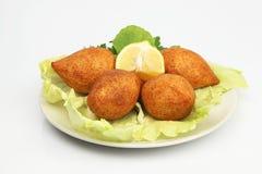 Turkish Ramadan Food icli kofte ( meatball ) falafel Stock Photo