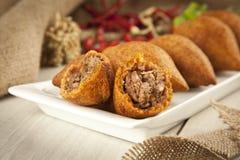 Turkish Ramadan Food icli kofte ( meatball ) falafel Stock Photos