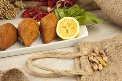 Turkish Ramadan Food icli kofte ( meatball ) falafel. Stock image stock images