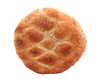 Turkish, ramadan pita bread, isolated on white Royalty Free Stock Image
