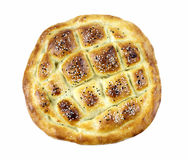 Turkish ramadan pita bread. Isolated on white background Royalty Free Stock Image