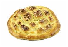 Turkish ramadan pita bread. Isolated on white background Stock Photo