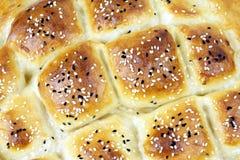 Turkish ramadan pita bread. Macro image Royalty Free Stock Photos