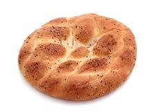 Turkish, ramadan pita bread,  on white.  Stock Photography