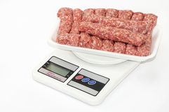 Turkish raw kebabs with minced meat Stock Photo