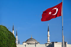 Turkish red flag Royalty Free Stock Photos