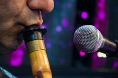 Turkish reed flute, turkish classical sufi music instrument stock photography