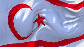 Turkish Republic of Northern Cyprus Flag Waving Seamless Loop Background. royalty free illustration