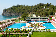 Turkish resort at Mediterranean Sea Royalty Free Stock Photo
