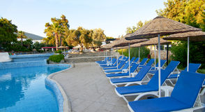 Turkish resort, swimming pool. Royalty Free Stock Image