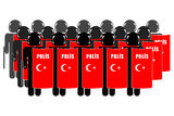 Turkish Riot Police. Silhouette of Turkish Anti-Riot Police royalty free illustration