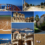 Turkish riviera - tourism collage royalty free stock photography