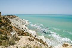 Turkish rocks near Agrigento (Sicily) Royalty Free Stock Photos