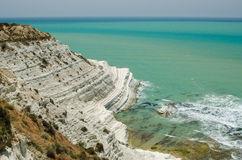 Turkish rocks near Agrigento (Sicily) Stock Images