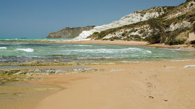 Turkish rocks near Agrigento (Sicily) Stock Image