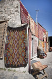 Turkish Rug Vendor Royalty Free Stock Image