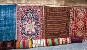 Turkish rugs in the Grand Bazaar Stock Images