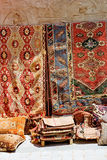 Turkish rugs on the street Stock Photography