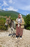 Turkish rural woman in traditional dress Royalty Free Stock Image