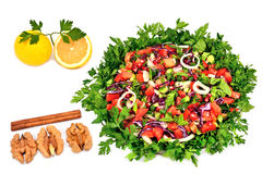 Turkish salad isolated on white Stock Photo
