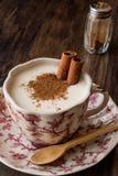 Turkish Salep or Sahlep with cinnamon sticks / Christmas Eggnog Royalty Free Stock Photography