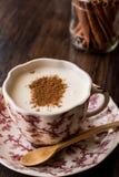 Turkish Salep or Sahlep with cinnamon sticks / Christmas Eggnog Stock Image