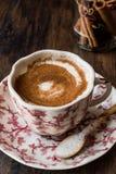 Turkish Salep or Sahlep with cinnamon sticks / Christmas Eggnog Stock Images