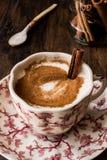 Turkish Salep or Sahlep with cinnamon sticks / Christmas Eggnog Royalty Free Stock Photo
