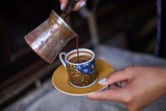 Turkish sand coffee Royalty Free Stock Photography