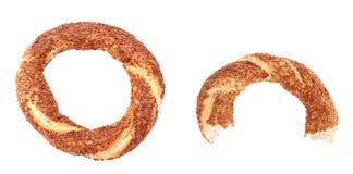 Turkish sesame bagel. - Simit- Stock Photo