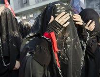 Turkish Shia girls takes part in an Ashura parade Stock Image