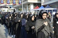 Turkish Shia girls takes part in an Ashura parade Stock Images