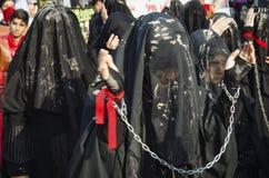 Turkish Shia girls takes part in an Ashura parade Royalty Free Stock Images